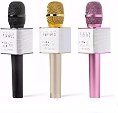 Wireless Karaoke Mic with Bluetooth Speaker for iPhone, Android