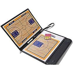 Pizarra magnética AUVSTAR para entrenador de baloncesto, plegable y con funda de piel