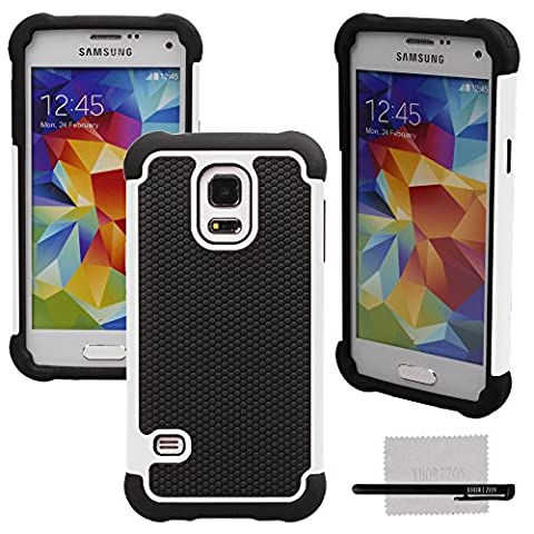 xhorizon TM Heavy Duty High Anti-choc Anti-poussière solide surface + Soft Souple Defender Housse Coque Etui pour Samsung Galaxy S5 mini G800