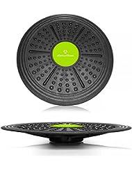 Balance-Board ronde »Circulum« / Planche d'équilibre toupie / Planche de coordination pour le fitness et la thérapie / 40,5 cm grand
