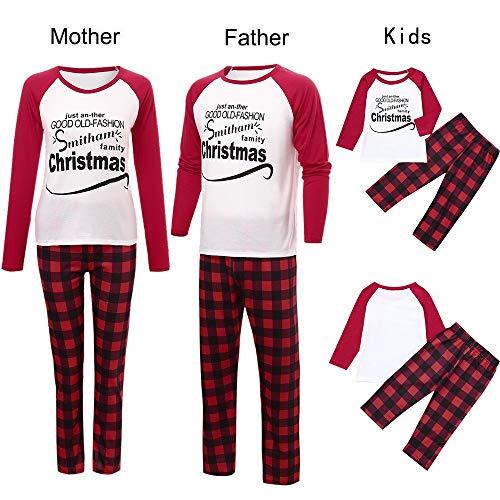 Weihnachten Mama & Papa & Baby Lässige Brief Tops + Streifen Hosen Familie Set Weihnachten Pyjama Schlafanzug Familie Set Nachtwäsche