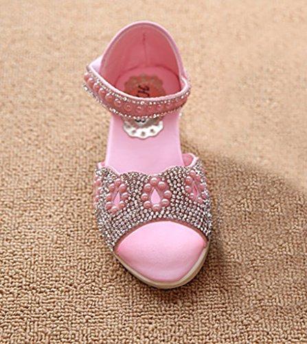 EOZY 1 Paire Sandales Fille Princesse Printemps Bride Cheville rose clair