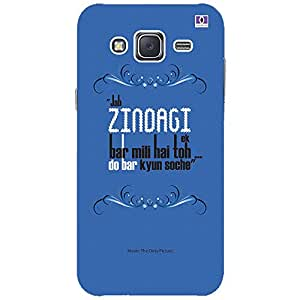 Zindagi - Mobile Back Case Cover For Samsung Galaxy J2 (2016)