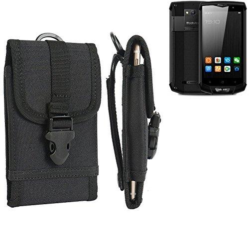 K-S-Trade Handyhülle für Blackview BV8000 Pro Gürteltasche Handytasche Gürtel Tasche Schutzhülle Robuste Handy Schutz Hülle Tasche Outdoor schwarz