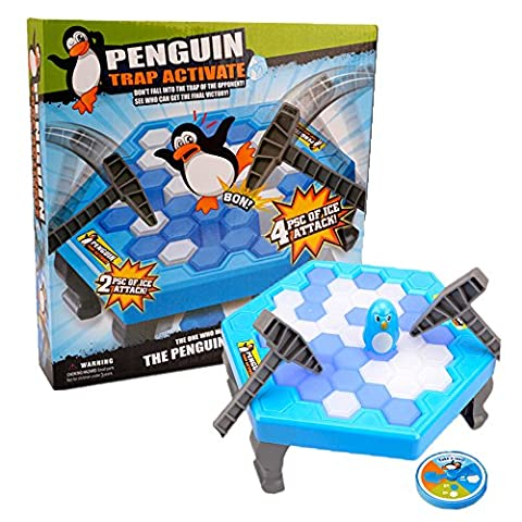 Penguin Ice Cubes Mini Table Game for Kids Balance Ice Puzzle Save Penguin Icebreaker Beating Interactive
