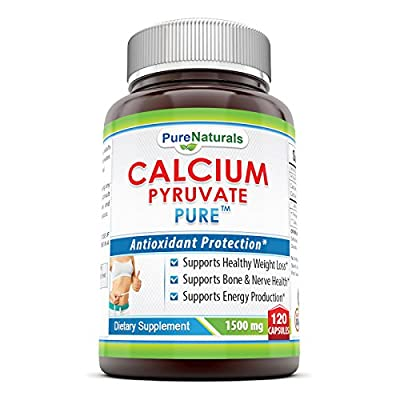 Pure Naturals Calcium Pyruvate, 1500 mg, 120 Capsules by Pure Naturals
