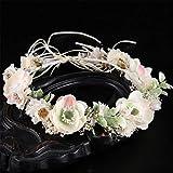 FENXIMEI Guirlande de Fleurs Blanches Accessoires de Robe de mariée colorés Fleur séchée Tiara Bande de Cheveux Bijoux de mariée Guirlande (Couleur : Coloré)