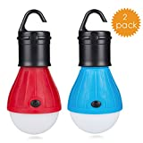 Eletorot LED Camping Light Lantern Portable Outdoor Waterproof Tent LED Light Bulbs Camping Lamp COB150 Lumens Emergency Light Lamp Lantern for Camping,Hiking,Fishing,Hunting,Backpacking, Mountaineering activities (Blue and Red)