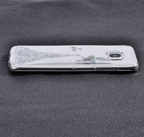 Vandot Etui Transparent Case pour Samsung Galaxy S7 Edge Coque de Protection en TPU Gel Invisible avec Absorption de Chocs Etui TPU Silicone Case Ultra Slim Thin Hull pour Samsung Galaxy S7 Edge Soupl Fée - Argent