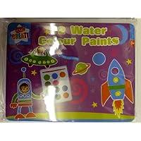 Kids Create-12 colori ad acqua in tubetto, pennelli, PTIN in scatola di latta