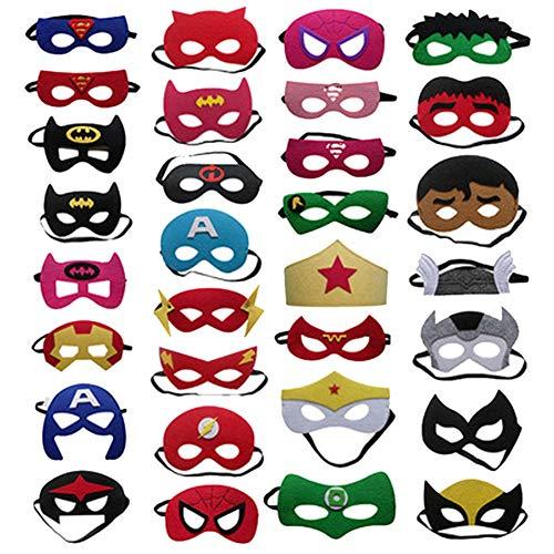 20 Stück Halloween Maske, Zoo Farm Filz Maske, Haustier Bauernhaus Thema Geburtstagsfeier, Kostüm Kleid Party Supplies Für Kinder Geburtstagsparty,100pcs