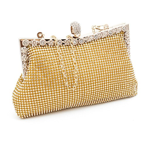 High-end Di Moda Mini Luxury Party Borsa Casuale Gold