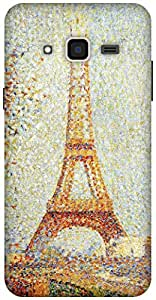 The Racoon Lean Eiffel Tower - Seurat hard plastic printed back case / cover for Samsung Galaxy J3(2016)