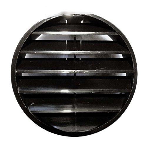 Verschlussgitter aus Kunststoff Ø 100 mm mit Lamellen in Schwarz für Rohre 10 cm Zeitungsrollen (Schwarz) (Kunststoff-lamellen)