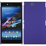 Funda Rígida para Sony Xperia Z Ultra - goma púrpura - Cover PhoneNatic Cubierta + protector de pantalla