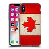 Head Case Designs Canada Canadien Drapeaux Vintage Étui Coque en Gel Molle pour iPhone X/iPhone XS