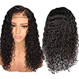 Perruque Complète Naturelles Femme Bob Wave Noir Moins brésilien wig Lace Front brésilienne 360 Naturel Dentelle Devant Bouclée