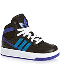 the latest d74b6 cc699 adidas Originals Court Attitude EI I Zapatillas Sneakers Cuero Negro Azul para  Ninos