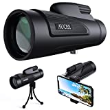 12x50 Monocular Telescope for Adults, AUCEE HD High Power Bak4 Prism Monocular Waterproof