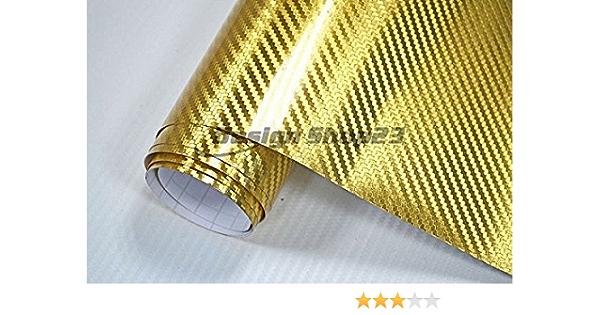 8 5 M Auto Folie Carbon Chrom Gold 30 X 152 Cm Blasenfrei Selbstklebend Flexibel Car Wrapping Auto