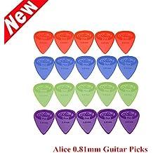 pligh (TM) 20pcs/set–púas de guitarra Alice AP-G 0,81mm la proyección de nylon guitarra Picks púas al por menor