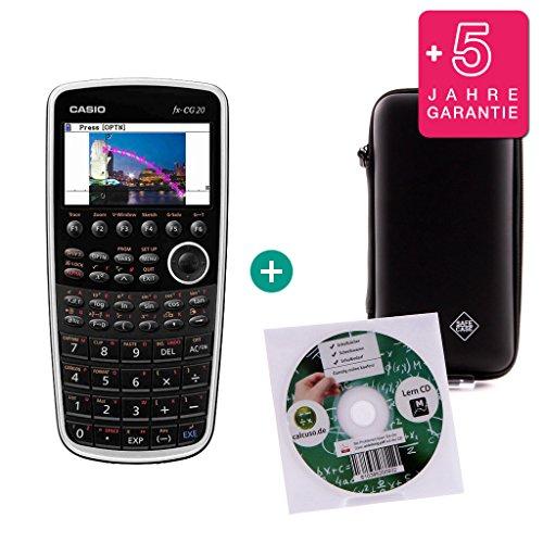 Casio Streberpaket FX CG 20 + Erweiterte Garantie + Lern-CD (auf Deutsch) + Schutztasche