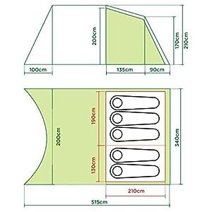 coleman  da gama unisex outdoor tunnel tent