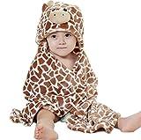 DINGANG primavera-autunno, Accappatoio per bambini Baby Girl-Mantello ultra_soft-Coperta in flanella, 0_6 anni
