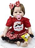 55,9cm Reborn Baby-Puppe Magnetischer Schnuller Soft Body Dolly Geburt Zertifikat Care