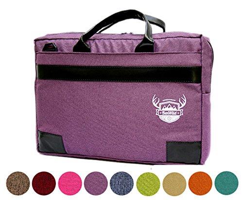 BAMBINIWELT Laptoptasche, Notebooktasche, Aktentasche, Huelle, Case in 15 oder 17 Zoll, MELIERT lila (17 Zoll))