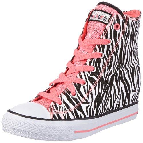 Skechers Gimme-Wicked Mädchen Sneaker Schwarz (Zba)