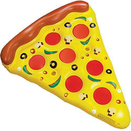 Tante Tina - Trancio di Pizza Gonfiabile Gigante - materassino con Doppio Porta Bicchiere