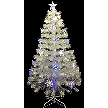 White Fibre Optic Christmas Tree 6ft Rainforest Islands Ferry Concepts