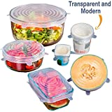 #6: Stretch Lids, Lids for Bowls & Pots, Pack of 6 (Six), Multi Function, Flexible & Reusable, Oven-Freezer-Dishwasher Safe -- Kitchen Essentials from the House of INVOGUE RETAIL