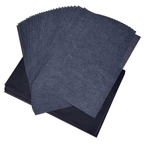 Outus Carbon Transferpapier Kohlepapier Graphitpapier 9 von 13 Zoll für Holz Stoff Segeltuch, 60 Blatt