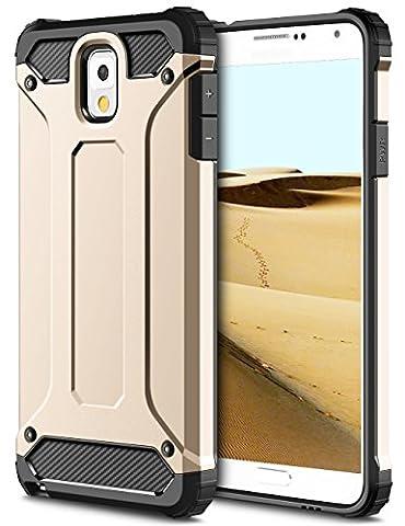 Samsung Galaxy Note 3 Hülle, Coolden® Outdoor Case Doppelte Schutz Silikon TPU + PC Bumper Anti-dust Militärstandard Schutzhülle für Samsung Galaxy Note 3 Handyhülle Samsung Galaxy Note 3 Case Cover