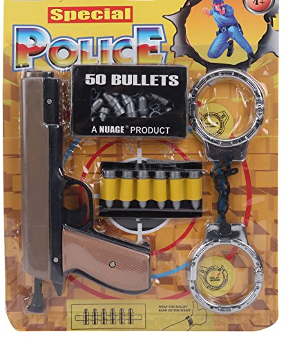 Special Police Kit with Gun, Handcuffs and Bullets, A Role Play Toy