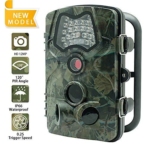 DZSM Outdoor Wasserdichte Jagd Trail Game Kamera mit 3 PIR Sensor 24 stücke Low Glow IR LEDs Digital Überwachungskamera