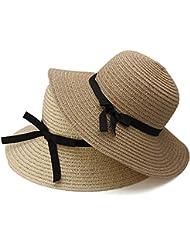 Bazaar Chapeau les femmes de la mode grande échelle soleil disquette chapeau de plage chapeau de paille bord