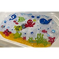 Scarlet Gem Non-Slip Bath and Shower Mat for Babies, Toddlers and Children – Anti-Slip Phthalates and Lead Free Durable Mildew and Mould Resistant PVC