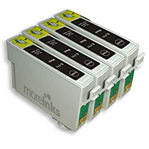 4 Compatible Printer Ink Cartridges for Epson Stylus SX218 - Black