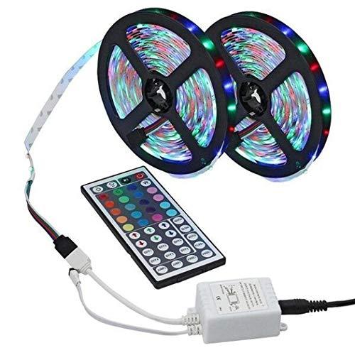 Iiloens Striscia LED 3528 SMD RGB con Cambio Colore e Telecomando 44key Strisce LED