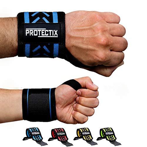 Protectix Handgelenk Bandagen - Wrist Wraps [2er Set] 45cm Handgelenkbandage für Kraftsport, Crossfit, Fitness & Bodybuilding - für Frauen und Männer geeignet