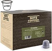 Note d'Espresso Black tea Capsules 2g x 100 Capsules Exclusively Compatible with Nespresso* machines