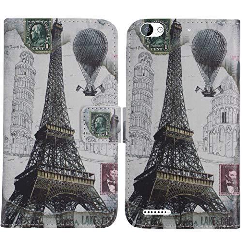 TienJueShi Eiffelturm Flip Book Stand Brieftasche Leder Tasche Schütz Hülle Handy Telefon Case Für Obi Worldphone MV1 5 inch Abdeckung Fall Wallet Cover Etüi