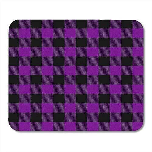 Schreibtischunterlage,Pattern Purple Buffalo Plaid Autumn Schwarz Bright Cabin Check Mauspad, 25 * 30Cm -