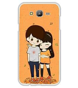 Cute Couple 2D Hard Polycarbonate Designer Back Case Cover for Samsung Galaxy E5 (2015) :: Samsung Galaxy E5 Duos :: Samsung Galaxy E5 E500F E500H E500HQ E500M E500F/DS E500H/DS E500M/DS