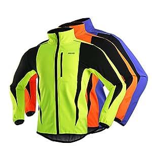 ARSUXEO Hommes Sports Vtements de Cyclisme Bike Bicycle Manteau d'hiver Jersey manches longues Veste