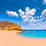 adrium Poster-Bild 100 x 100 cm:Cocedores Beach in Murcia