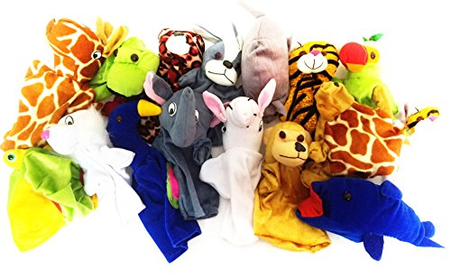 5 Pcs Random Animal Hand Puppets Soft Toy Plush Toy Figure Pet Animals Soft Toys 15-25 cms Best Quality